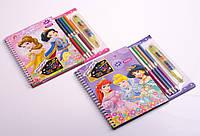 Набор для творчества: раскраска, карандаши - 8 цветов, в ассортименте