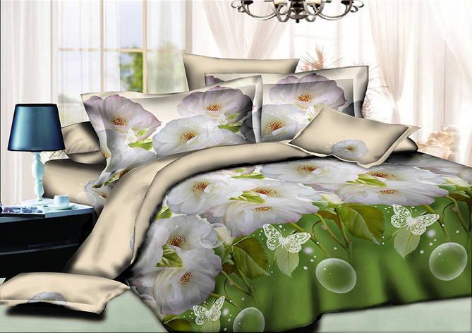 Двуспальный комплект постельного белья евро 200*220 хлопок  (9560) TM KRISPOL Украина, фото 2