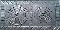 "Плита чугунная  ""Румыния"" двухконфорочная 405*705 мм (вес - 22 кг), фото 1"
