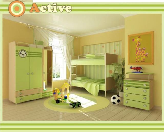 Детская комната Active (Интерьер модификация серии Футбольная)
