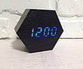 Часы настольные деревянные электронные VST-876