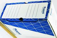 Бокс архивный 150мм AXENT 1733-02 синий/белый