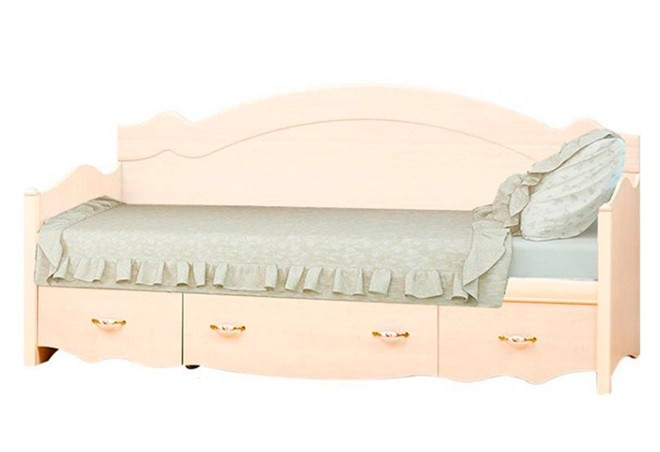 Ліжко 1-сп. (б/матрасу з шухлядою) клен Селіна Світ Меблів
