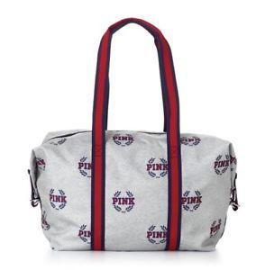 Victoria's Secret Сумка Спортивная PINK Sport Duffle Gym Bag, Серая