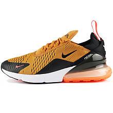 Кроссовки мужские Nike Air Max (оранжевые-черные) Top replic