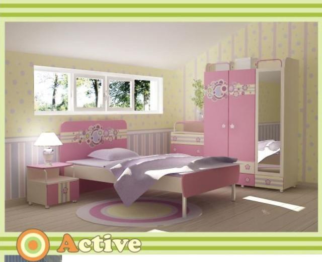 Детская комната Active (Интерьер модификация серии Розовая цветы)