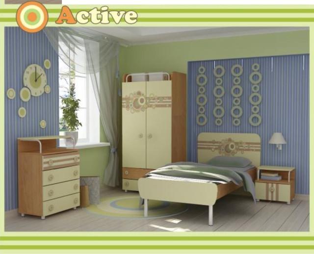 Детская комната Active (Интерьер модификация серии Бежевая цветы)