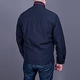 Чоловіча куртка (вітровка) темно-синього кольору., фото 3