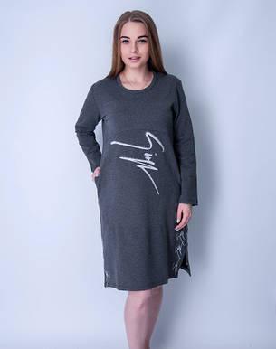 Летние домашние платье Wild Love с длинным рукавом 70007, фото 2