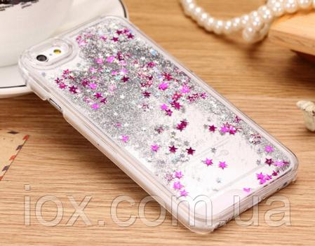 Чехол переливающийся (серебро) для Iphone 6 plus