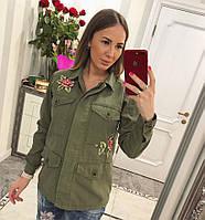 Женский стильный пиджак-кардиган с нашивками da688847fbd0e