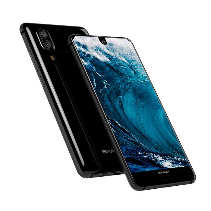 "Смартфон Sharp Aquos S2 black 4/64, 12/8Мп, 2sim, экран 5.5"" IPS, 4G, GPS, 3020mAh, Snapdragon 630, 8 ядер"