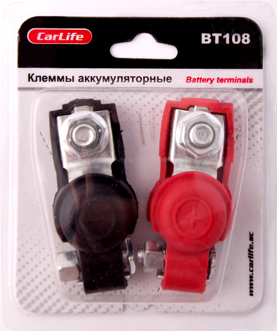 Клеммы на аккумулятор автомобиля CarLife BT 108
