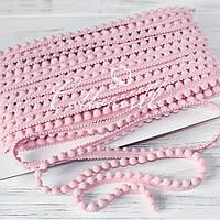 Тесьма с мелкими помпонами розовая, фото 1
