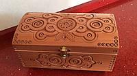 Шкатулка сувенірна дерев'яна ручної роботи 25*12*12,5 см, фото 1