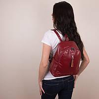 Красный женский рюкзак из экокожи Seven (0303 red)