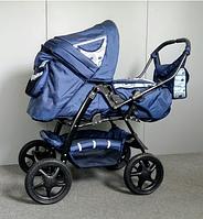 Коляска детская универсальная 2 в 1 Яся Trans baby синий бирюза
