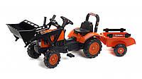 Трактор на педалях Falk Lander 2065AM помаранчевий