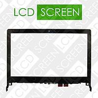 Тачскрин для ноутбука Lenovo Flex 2 14, черный с рамкой, touch screen, сенсорный экран, WWW.LCDSHOP.NET