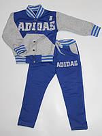 Детский Спортивный Костюм без капюшона В стиле Адидас Синий Рост 80-116 см