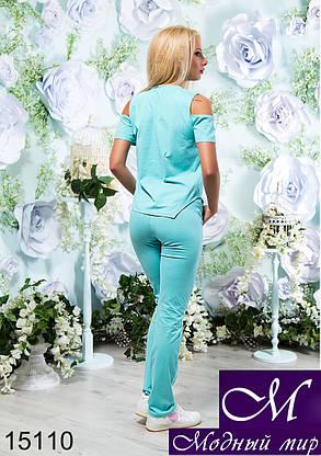 Женский стильный летний спортивный костюм (р. S, M, L) арт. 15110, фото 2