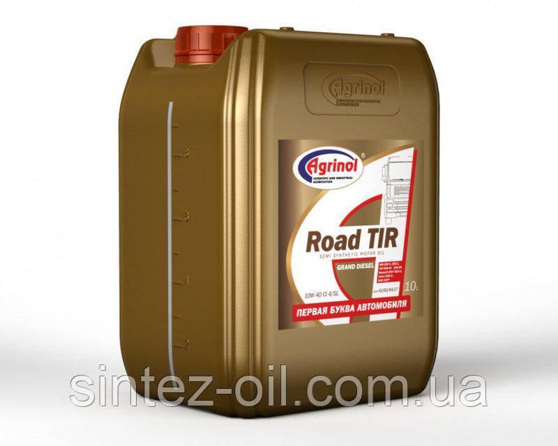 Агринол Road TIR 10W-40 CI-4/SL Полусинтетическое моторное масло (полусинтетика) 10л