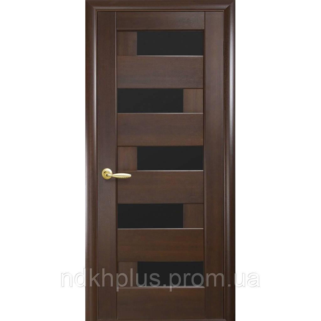Двери межкомнатные Пиана с черным стеклом