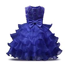 Платье синее бальное выпускное нарядное для девочки в садик или школу