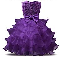 Платье фиолетовое бальное выпускное нарядное для девочки в садик или школу
