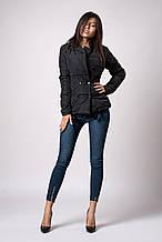 Женская молодежная демисезонная куртка. Код модели К-121-37-18. Цвет черный.
