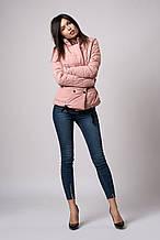 Женская молодежная демисезонная куртка. Код модели К-121-37-18. Цвет пудра.