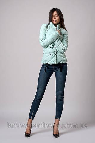 Женская молодежная демисезонная куртка. Код модели К-121-37-18. Цвет мята.
