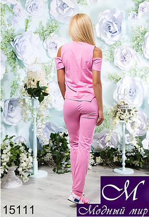 Стильный женский летний спортивный костюм (р. S, M, L) арт. 15111, фото 2