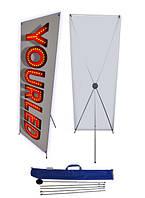 Х-Баннер/X-Banner-ПАУК 60х160 см, мобильный стенд паук, spider