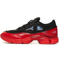 Кроссовки женские Adidas x Raf Simons Ozweego Bunny КОЖА! (красные-черные) Top replic