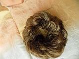 Резинка-шиньон из волос шатен 977- 14, фото 5