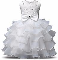 Платье белое бальное выпускное нарядное для девочки, фото 1