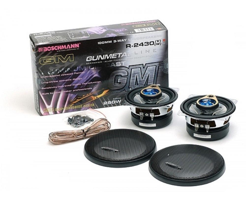 "Автомобильная акустика 4"" (10см) 3-х полосная коаксиальная BM Boschmann R-2430V 250W"