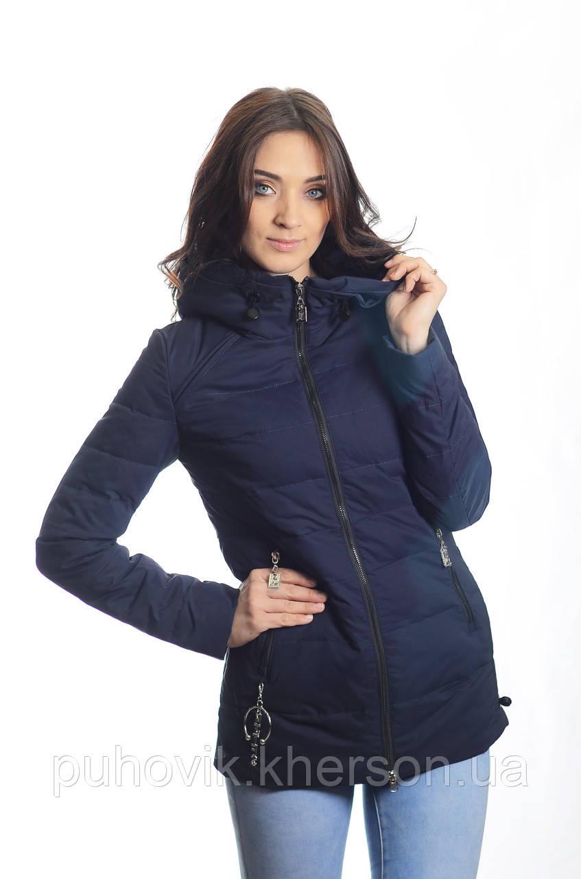 875b06871fb Куртка женская деми Meajiateer M1835 т.синий