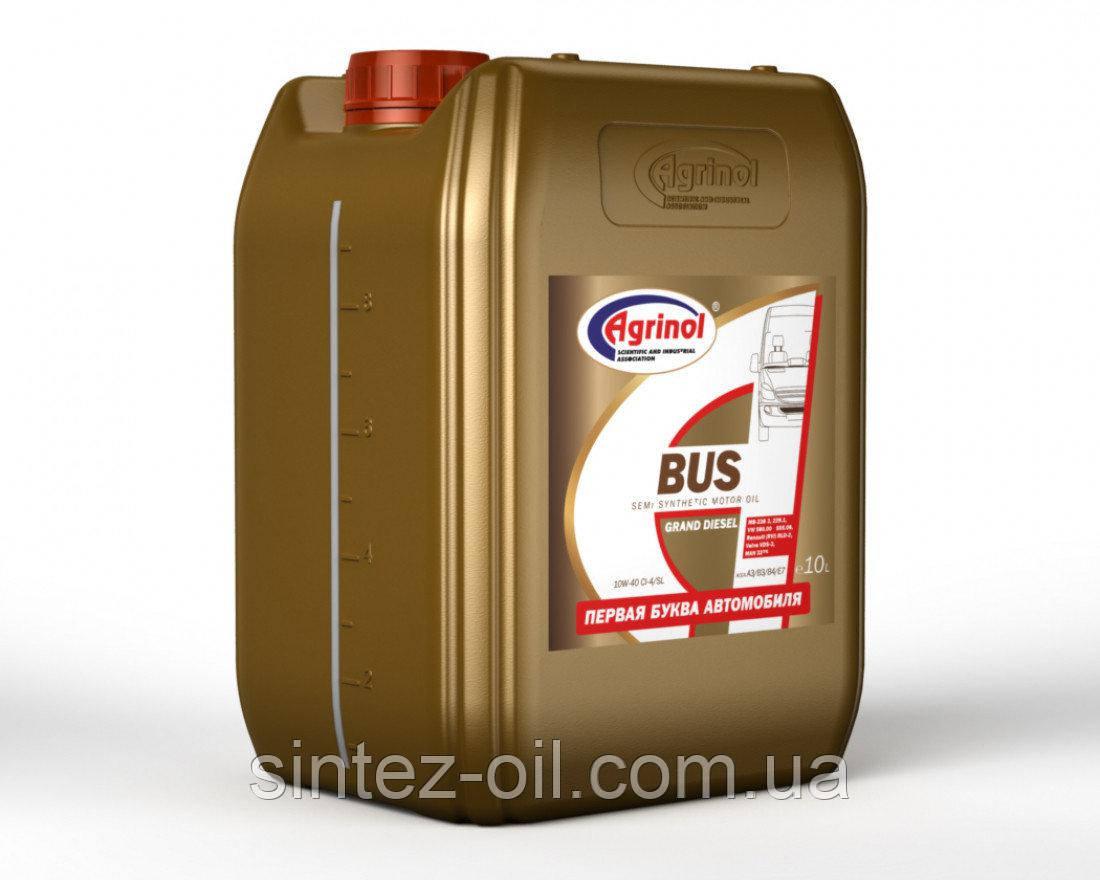 Агринол BUS 10W-40 CI-4/SL Полусинтетическое моторное масло (полусинтетика) 10л