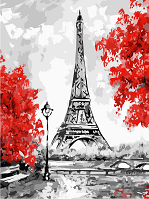 Картина по номерам Алые краски осени