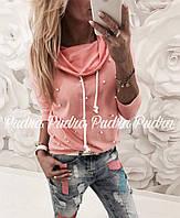Женский Свитшот хомут батник кофта двунить 42 44 46 размер Женские свитера, свитшот опт розница недорого