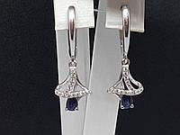 c5996ceb709e Серебряные серьги с сапфиром и фианитами Лана 2135 9р, цена 786,25 ...