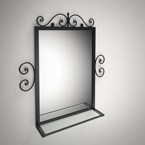 Зеркало Тауэр в кованном обрамлении, фото 2