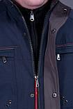 Чоловіча куртка (вітровка) темно-синього кольору., фото 6