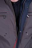 Чоловіча куртка (вітровка) кольору хакі., фото 5