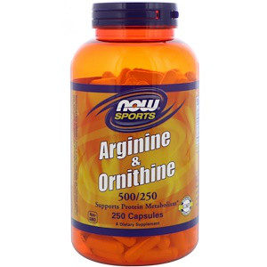 Now Foods, Arginine & Ornithine, 500/250, 250 капсул