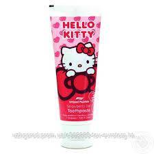 Детская зубная паста Hello kitty strawberry gel , 75 мл.