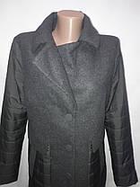 """Button"", демисезонный френч 90-560 темно-серый, фото 2"