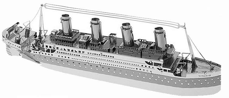 3d конструкторы металлические Титаник